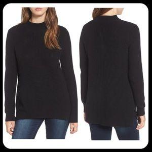 BP Mock Neck Tunic Long Sleeve Sweater